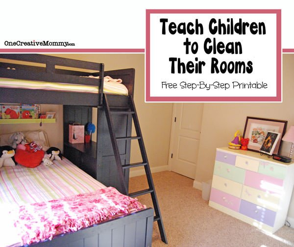 how to teach children to clean their bedroom