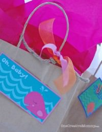 Easy Gift Bags from Recycled Materials from OneCreativeMommy.com