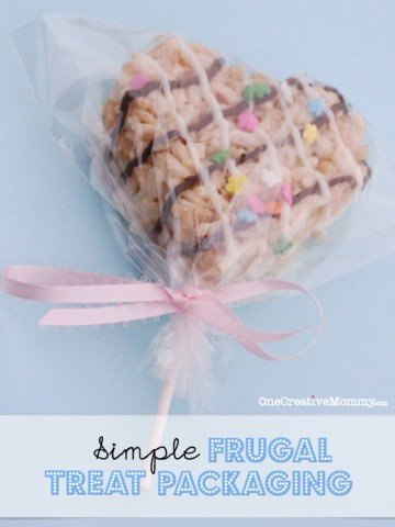 Frugal Treat Packaging from OneCreativeMommy.com {Don't buy expensive treat bags! You dont need them.}