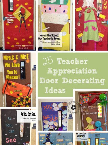 25 Teacher Appreciation Door Ideas from OneCreativeMommy.com