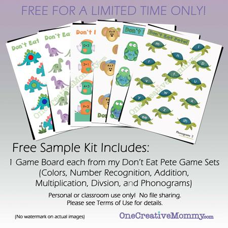 Free Don't Eat Pete Free Sample Pack from OneCreativeMommy