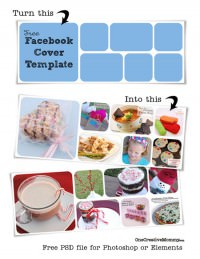 Free Facebook Cover Template for Photoshop or Elements {PDF file to easily update your facebook cover with a fun picture collage.} OneCreativeMommy.com