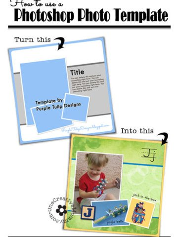 How to Use a Photoshop Photo Template (Clip photos to frames the easy way! A simple trick you need to know!) OneCreativeMommy.com