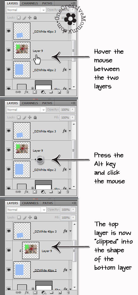 How to Use a Photoshop Template - onecreativemommy.com