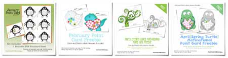Free Point Cards from OneCreativeMommy.com {A new point card every month in 2013!}