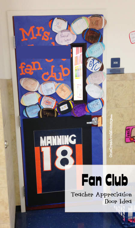 25 Teacher Appreciation Door Ideas from OneCreativeMommy.com {Mr./Mrs. ????'s Fan Club}