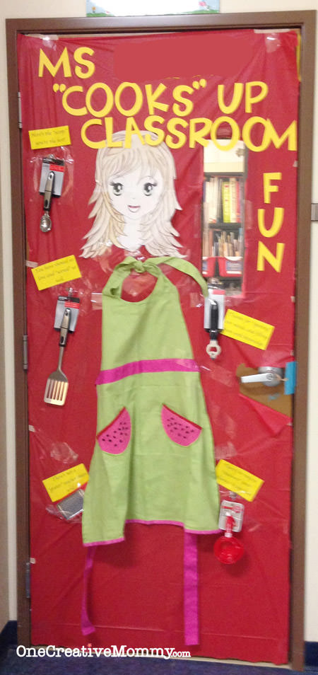 25 Teacher Appreciation Door Ideas from OneCreativeMommy.com {My Teacher Cooks Up Classroom Fun}