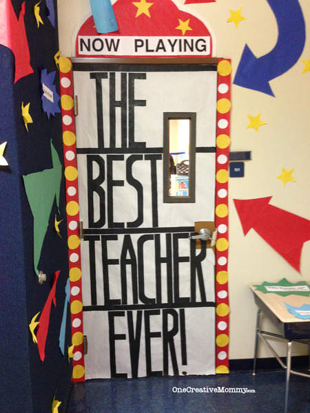 25 Teacher Appreciation Door Ideas from OneCreativeMommy.com Now Playing The Best Teacher & 25 Teacher Appreciation Door Ideas - onecreativemommy.com