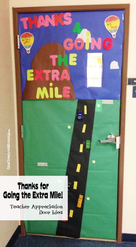 graphic about Thanks for Going the Extra Mile Printable titled 25 Trainer Appreciation Doorway Programs