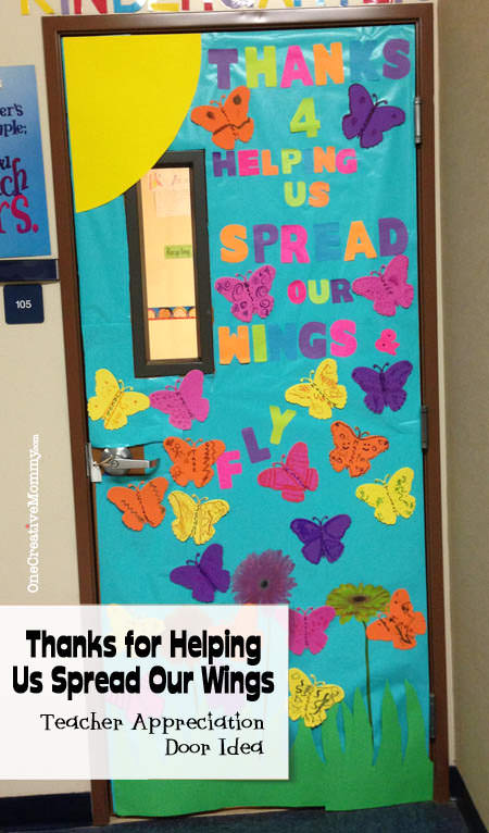 25 Teacher Appreciation Door Ideas from OneCreativeMommy.com Thanks for Helping Us Spread Our & 25 Teacher Appreciation Door Ideas - onecreativemommy.com