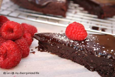 Flourless Chocolate Cake from {I Love} My Disorganized Life on OneCreativeMommy.com  {Gluten free and delicious!}