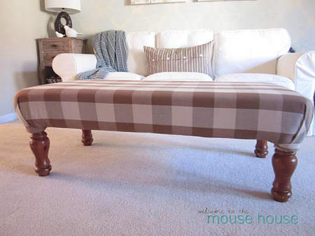 Coffee Table to Ottoman Makeover {Pin from Welcome to the Mouse House to find out how it's done!}