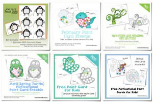 Free Point Cards for Kids {7 free designs from OneCreativeMommy.com}