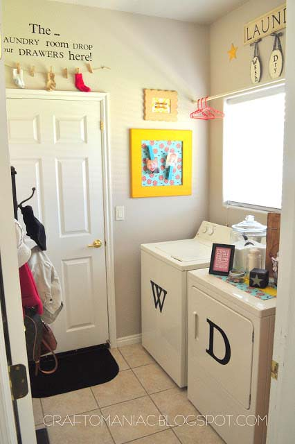 Laundry Room Makeover {You can pin the original post at Craft-O-Maniac}