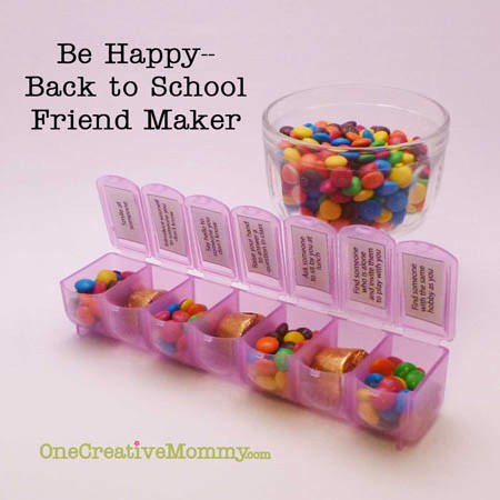 Back to School Friend-Maker Game--7 challenges to help kids make friends during the first week of school from OneCreativeMommy.com
