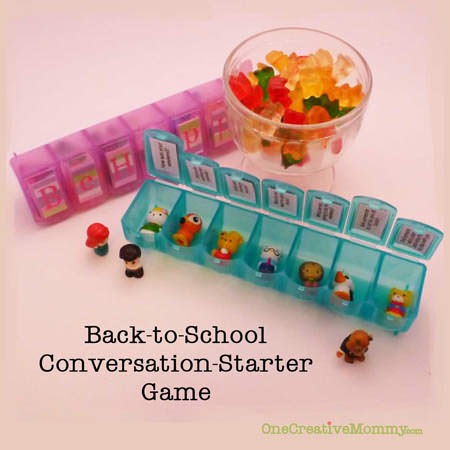 Back to School Conversation-Starter Game--7 challenges to get you talking {OneCreativeMommy.com}