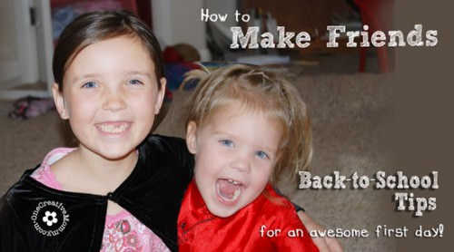 How to Make Friends at School: Eight tips to make the first day of school great! {OneCreativeMommy.com}