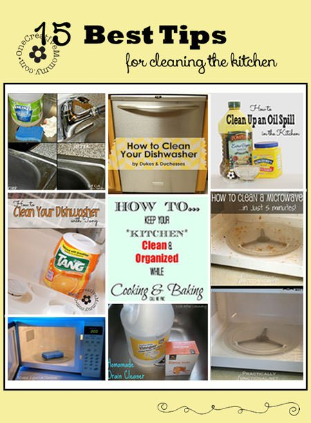 15 best cleaning tips for the kitchen for How to clean your kitchen