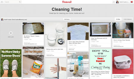 Cleaning Time! {Pinterest Board from OneCreativeMommy.com}