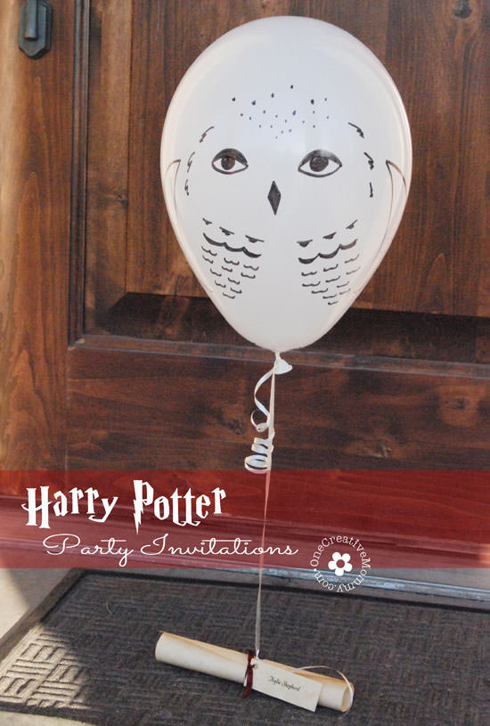Harry Potter Party Invitations by Owl Post onecreativemommycom
