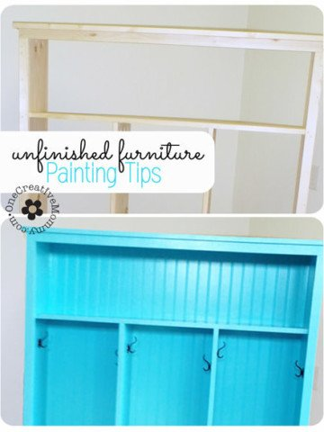 Painting Tips for Unfinished Furniture {Tips for Painting Bare Wood} OneCreativeMommy.com #paintingtips #furniture