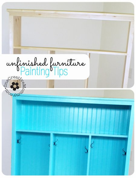 Painting Tips for Unfinished Furniture - onecreativemommy.