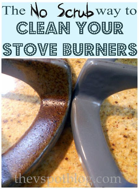 The No Scrub Way to Clean Your Stove Burners from theVSpotblog.com