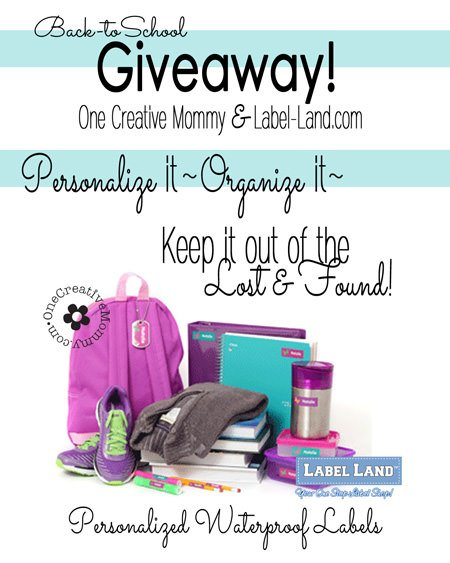... labels from Label-land.com {Giveaway on OneCreativeMommy.com} #