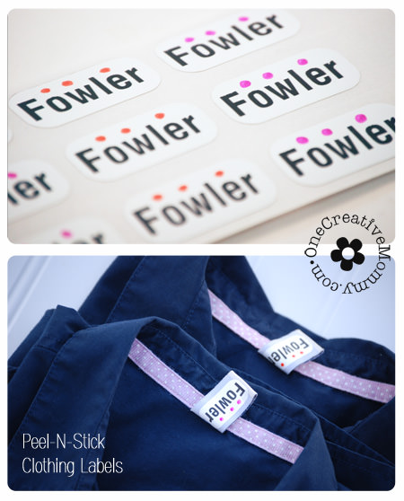 Make laundry sorting easier with Peel-N-Stick Labels from Label-land.com {Giveaway on OneCreativeMommy.com} #giveaway