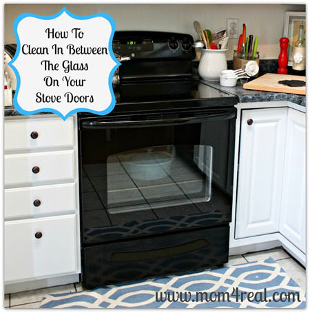 How to Clean Between the Glass Oven Doors from Mom 4 Real