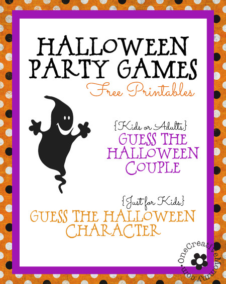 Free Printable Halloween Party Games for Kids (and Kids-at-Heart) from OneCreativeMommy.com