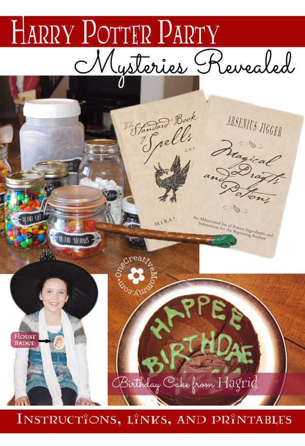 Harry Potter Party Games, Tutorials and Printables . . . everything you need for a fantastic party! {OneCreativeMommy.com} #harrypotterparty #birthdayparty #halloweenparty