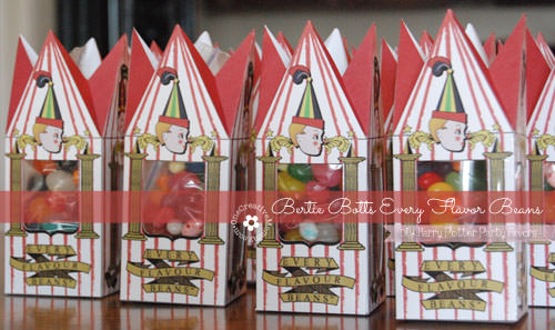 DIY Bertie Botts Every Flavor Beans for Harry Potter Party {OneCreativeMommy.com} Save money by making your own!