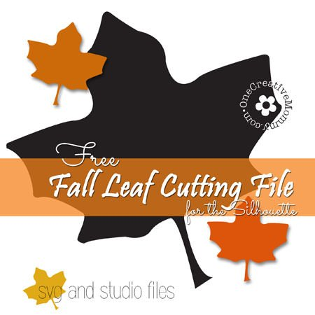 Free Fall Leaf Cutting file for the Silhouette {SVG and Studio format}