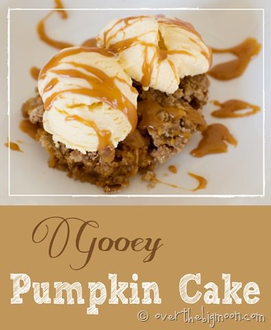 Gooey Pumpkin Cake {Over the Big Moon guest post on OneCreativeMommy.com}