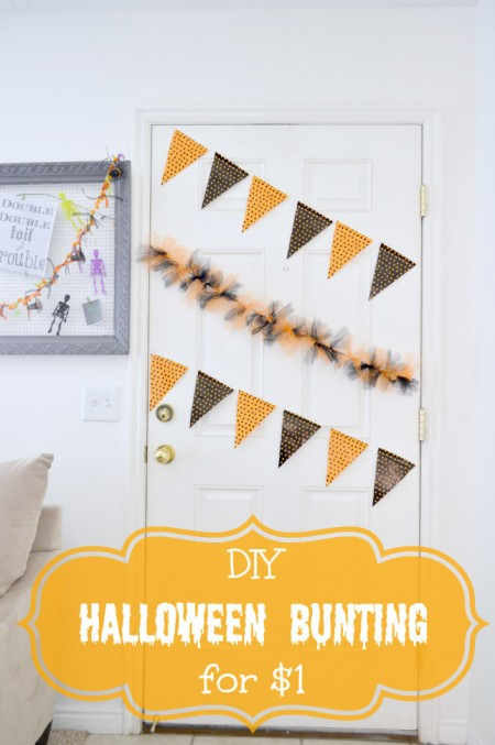 $1 Halloween Bunting Tutorial from Our Thrifty Ideas