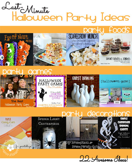 22 Last-Minute Halloween Party Ideas! {OneCreativeMommy.com}