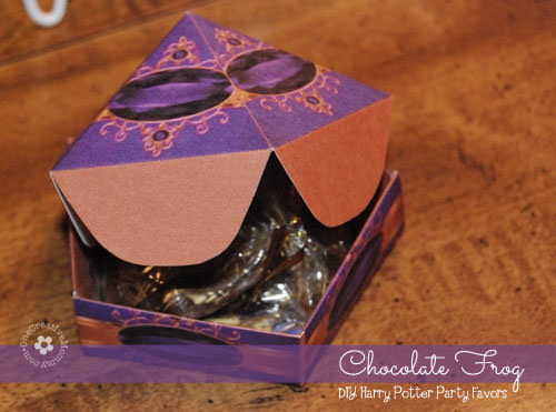 DIY Harry Potter Party Favors: Chocolate Frog Boxes {Save Money by Making Your Own!}