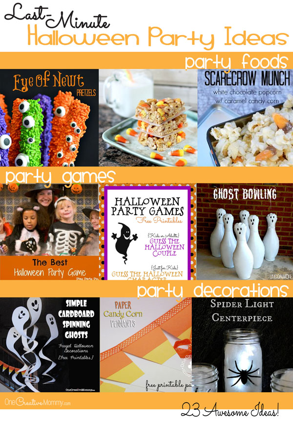 23 Last-Minute Halloween Party Ideas! {OneCreativeMommy.com}