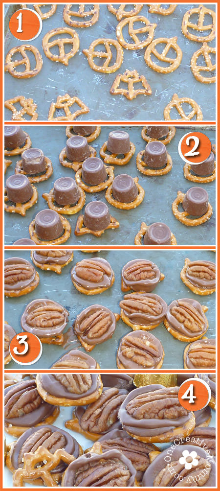 Rolo Pretzel Halloween Treats with Bats & Jacks {Great neighbor gift!}