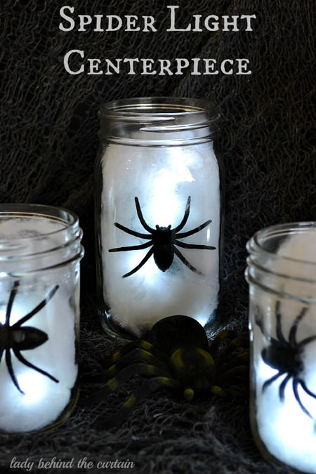 Spider Light Centerpiece from Lady Behind the Curtain
