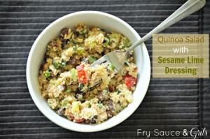 Quinoa Salad with Sesame Lime Dressing