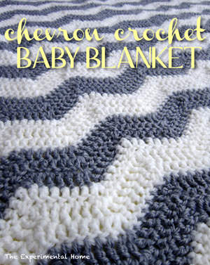 Crocheted Chevron Baby Blanket