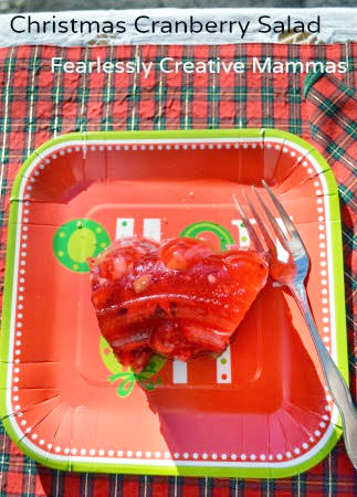 Cranberry Jello Salad--Perfect for Christmas! {Guest Post by Fearlessly Creative Mammas on One Creative Mommy}