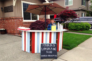DIY Pallet Lemonade Stand by Dolen Diaries