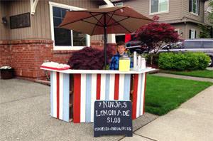 DIY Pallet Lemonade Stand by Dolen Diaries