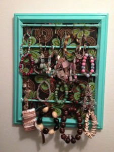 DIY Hanging Jewelry Storage