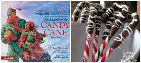 12 Christmas Books and Activities to Share with Your Kids {Guest post by Dixie Dollar Deals on OneCreativeMommy.com} The Candy Cane