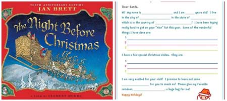 12 Christmas Books and Activities to Share with Your Kids {Guest post by Dixie Dollar Deals on OneCreativeMommy.com} The Night Before Christmas