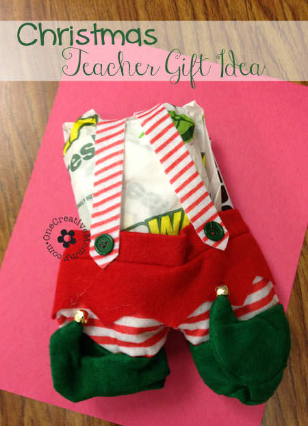 Subway Christmas Teacher Gift Idea - onecreativemommy.com